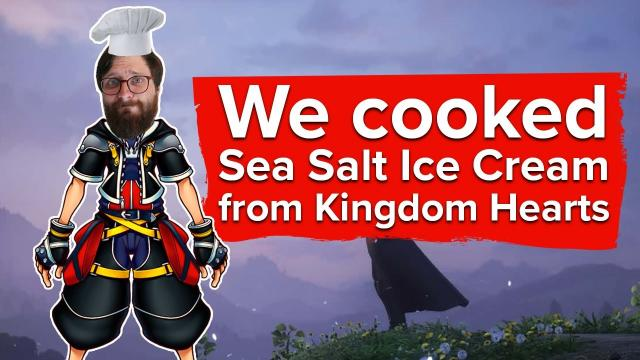 We made Sea Salt Ice Cream from Kingdom Hearts