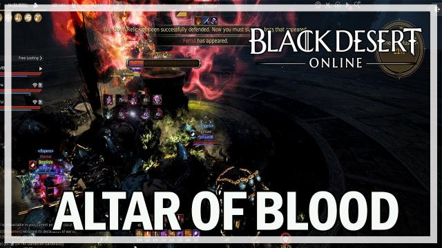 Altar of Blood with Kyrandis - Dark Knight - Black Desert Online