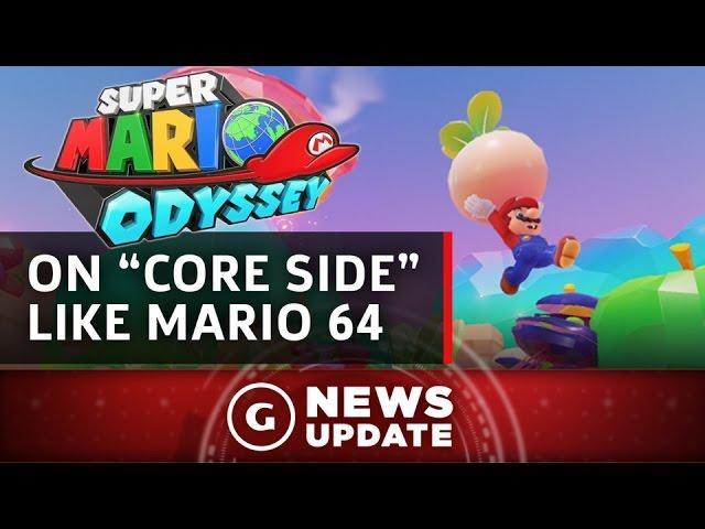 "Super Mario Odyssey on ""Core Side"" Like Super Mario 64, Miyamoto Says - GS News Update"