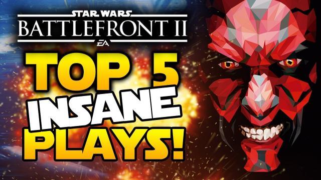 Star Wars Battlefront 2 - Top 5 INSANE Plays! Darth Maul vs Starfighters! JumpTrooper New Gameplay!