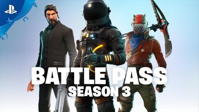 Fortnite - Battle Pass Season 3 Announce (Battle Royale)   PS4