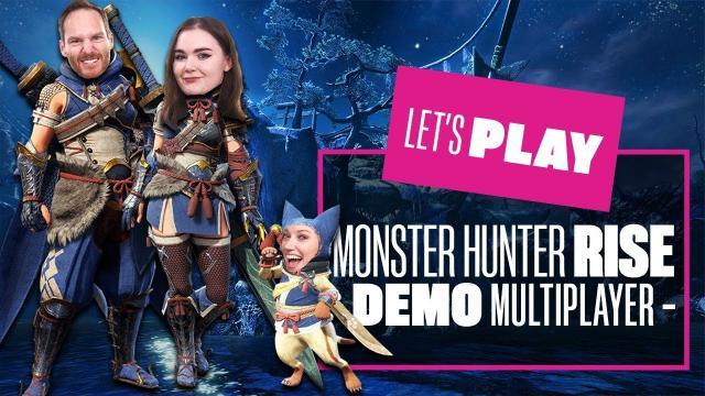 Let's Play Monster Hunter Rise Demo Multiplayer - Monster Hunter Rise Switch Gameplay