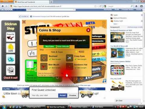 Stick Run On Facebook Cheat Engine 6.5.1 Coin