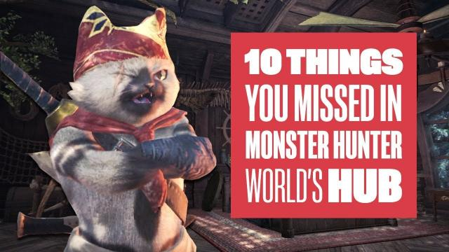 10 Things You Missed in Monster Hunter World's Hub - Monster Hunter World PS4 Gameplay