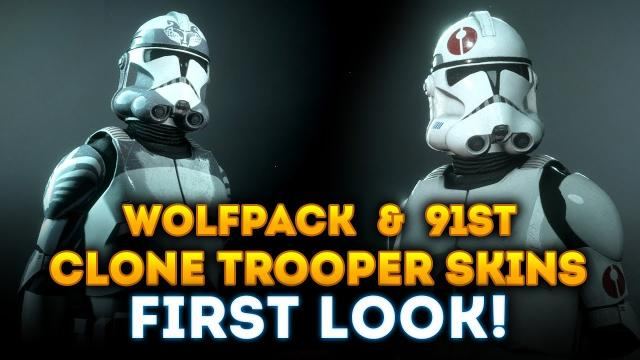 FIRST LOOK at NEW WolfPack and 91st Clone Trooper Skins! - Star Wars Battlefront 2