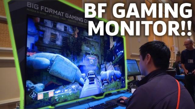 Gaming On Nvidia's Huge 65-inch Monitor Is A BIG DEAL   CES 2018