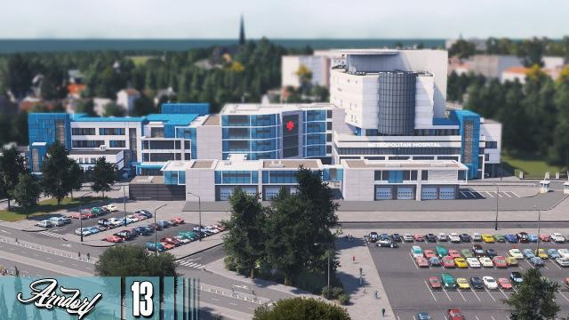 Cities Skylines: ARNDORF - Saint Ben Hospital & New Businesses! #13