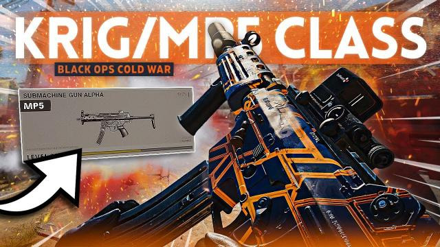 This KRIG + MP5 Class Setup in COLD WAR is PERFECT to Rank Up FAST!