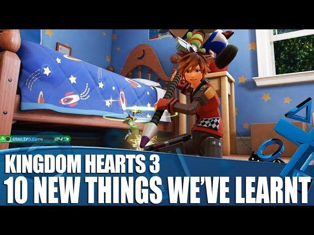 Kingdom Hearts 3 - 10 New Things We've Learnt