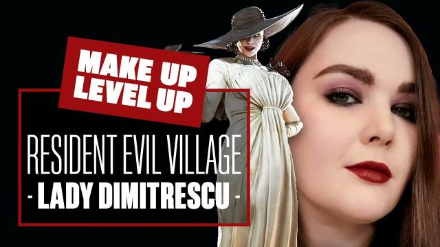 Lady Dimitrescu Goth Look! [RESIDENT EVIL VILLAGE LADY DIMITRESCU MAKE UP] - Make Up Level Up