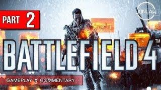 Battlefield 4 Walkthrough - Part 2 HELICOPTER CHASE - Let's Play Gameplay&Commentary BF4