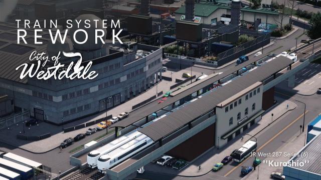 Cities Skylines: Fascinating Train ride through Westdale - Rework
