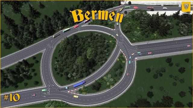 Bermen: Highway Roundabout Exit and the Fisherman's Island #10 - Cities Skylines