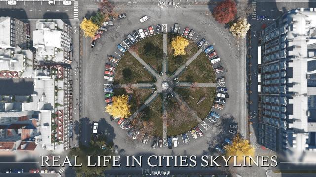 Real Life in Cities Skylines: Detailing a SQUARE