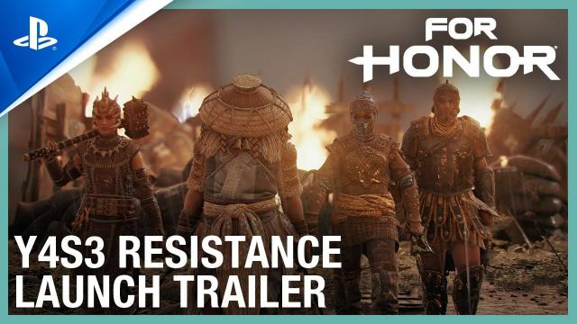 For Honor - Year 4 Season 3 Resistance Launch Trailer | PS4
