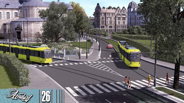 Cities Skylines: ARNDORF - The 3.5km Tram Line Ride #26