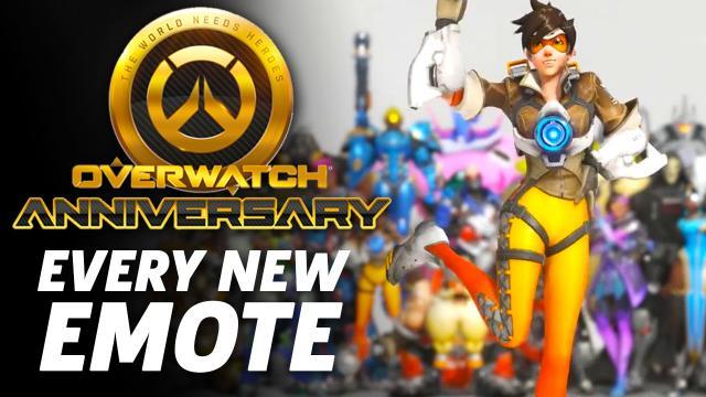 Overwatch Anniversary - Every New Emote