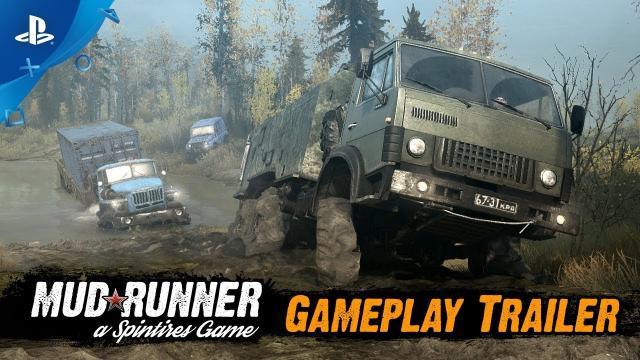 Spintires: MudRunner - Gameplay Trailer | PS4