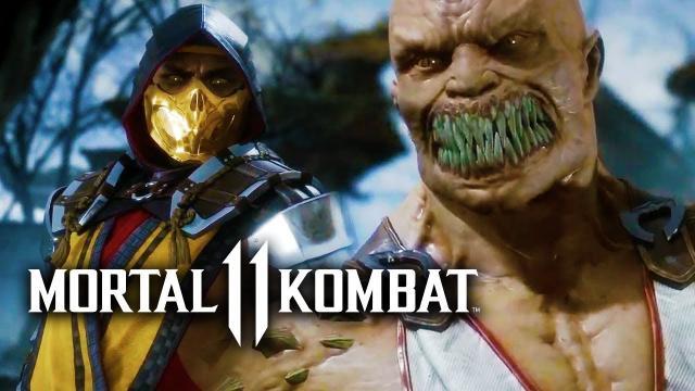 Mortal Kombat 11 First Official Gameplay Reveal - Scorpion vs Baracka | MK11 Reveal Event