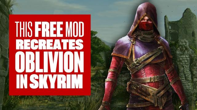This Free Mod Recreates Oblivion in Skyrim and You Need it Right Now
