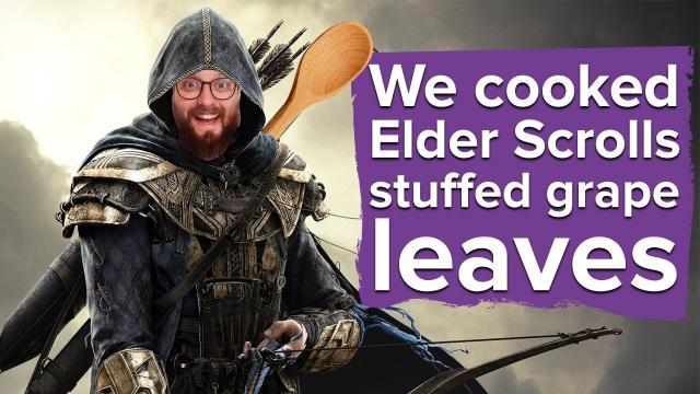 We cooked Elder Scrolls Online venison stuffed grape leaves