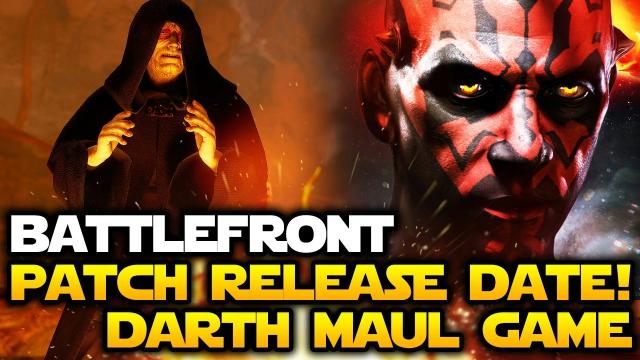 Star Wars Battlefront - New Patch Release Date! Cancelled Darth Maul Game New Concept Arts!