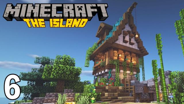 Building an AMAZING home!   Minecraft Survival - The Island #6