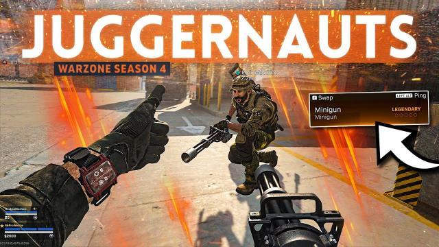 Using the MINIGUN in Warzone JUGGERNAUT Royale... it's actually insane!