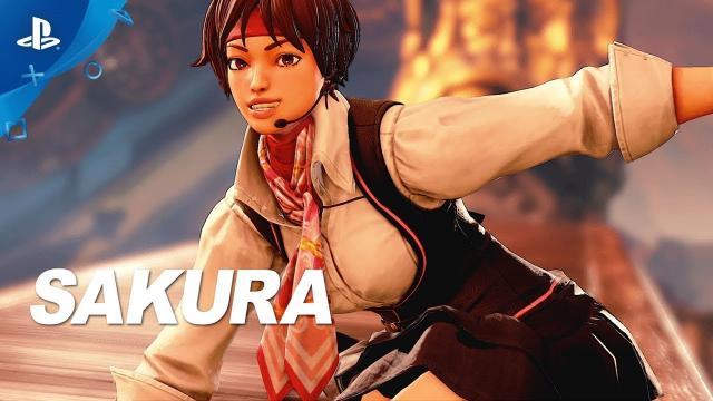 Street Fighter V: Arcade Edition – Sakura Reveal Trailer | PS4