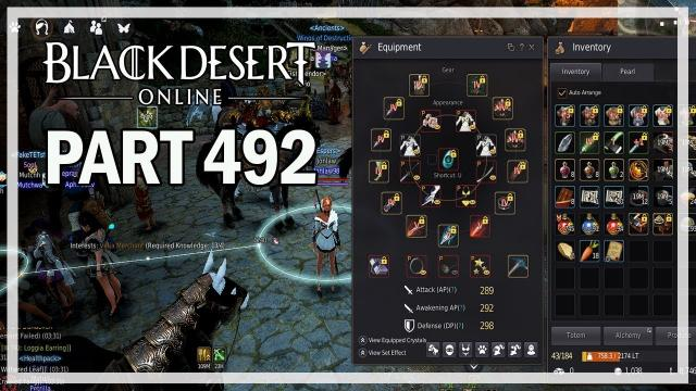 Black Desert Online - Dark Knight Let's Play Part 492 - Full TET Accessories
