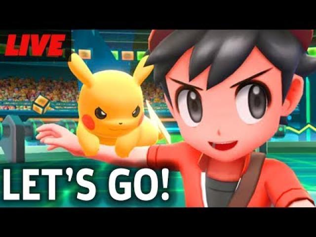 Pokemon Let's Go Pikachu And Eevee Gameplay Livestream