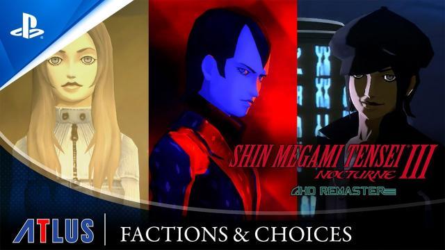 Shin Megami Tensei III Nocturne HD Remaster – Faction & Choices Trailer | PS4