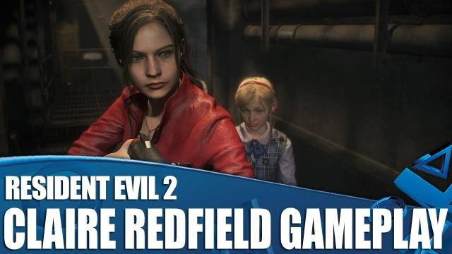 Resident Evil 2 PS4 Gameplay - Claire Redfield vs The Lickers