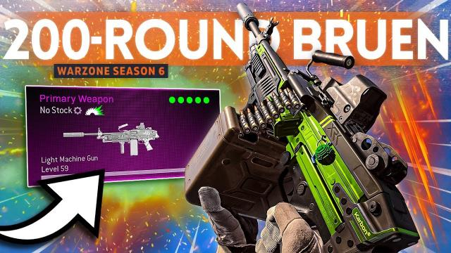 I tried the BRUEN 200 ROUNDS in Warzone and they RUINED EVERYONE!