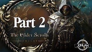 The Elder Scrolls Online Walkthrough - Part 2 BLEAKROCK - Gameplay&Commentary