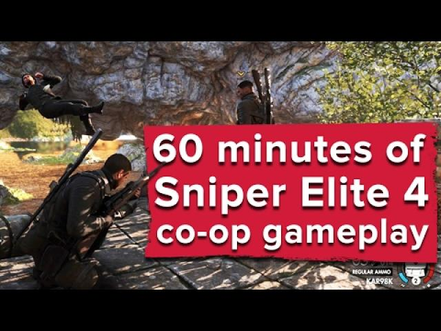 60 minutes of Sniper Elite 4 co-op gameplay - Live stream