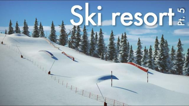 Planet Coaster Ski Resort (Part 5) - Fun Park & Custom Ski Lift