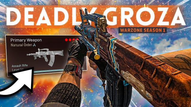 I think this WARZONE GROZA Loadout could be TOP TIER! (Best Class Setup)