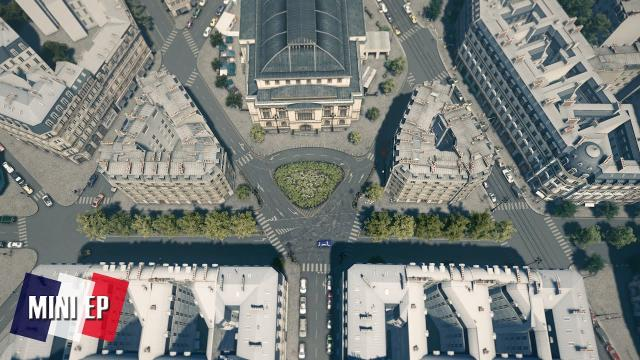 Cities Skylines: Little France - I flipped another Intersection in between buildings #miniEpisode
