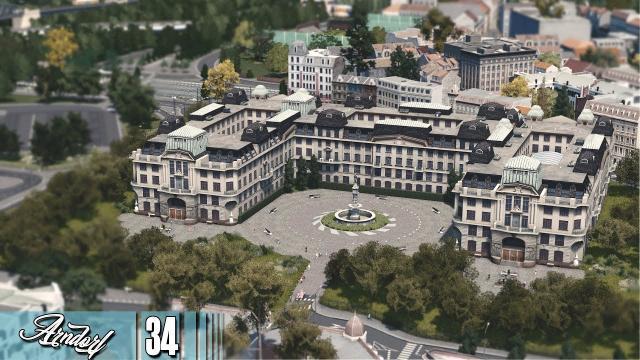 Cities Skylines: ARNDORF - The Medical University, Maintenance Depot and ruins #34